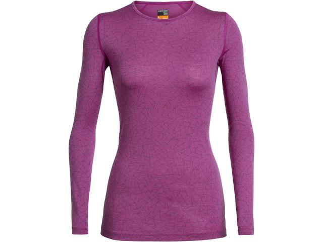 Icebreaker 200 Oasis T-shirt manches longues à col ras-du-cou Femme, amore
